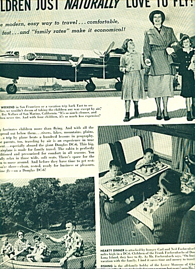 1950 - Douglas DC-6 airliners ad (Image1)