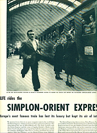 1950 - Life Rides the SIMPLON-ORIENT EXPRESS (Image1)