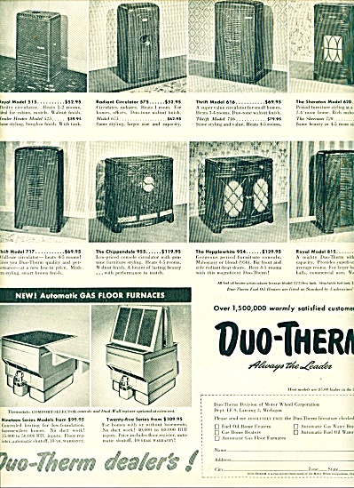 1950 - Duo-Therm oil home heaters ad (Image1)
