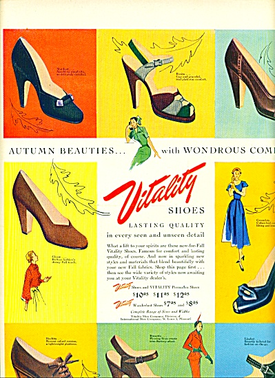 1950 - Vitality Shoes Ad