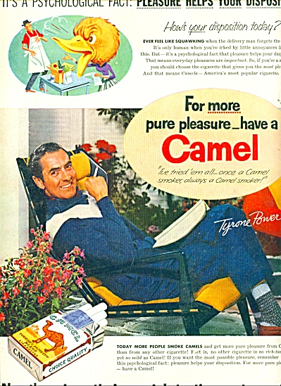 1955 - Camel cigarettes - TYRONE POWER (Image1)