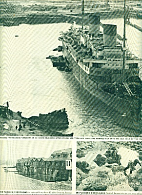 1946 - Ocean liner Normandie wallows in LeHav (Image1)