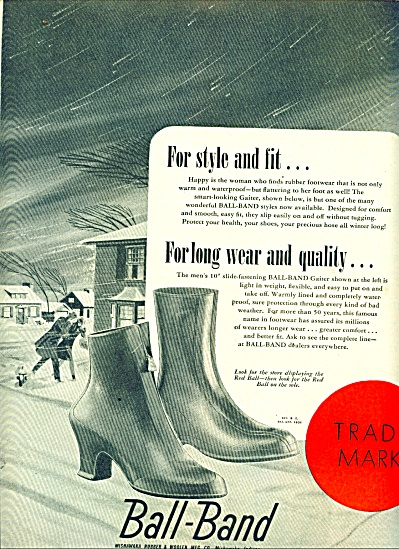 1946 - Ball Band rubber footwear ad (Image1)