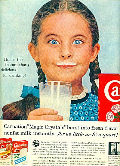 1959 - Carnation Instant Dry Milk Ad