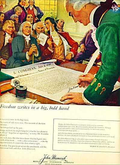 1959- John Hancock Insurance company ad (Image1)