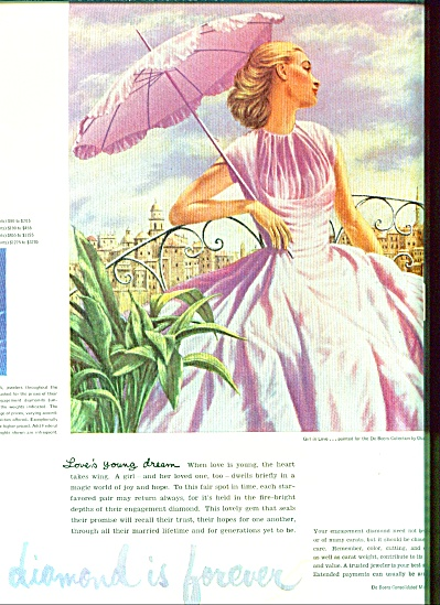 1955 -  A diamond is forever - DeBeers ad (Image1)