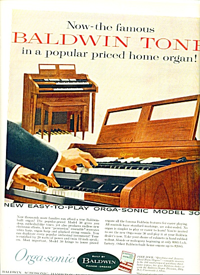 1959 -  Baldwin pianos and organs ad (Image1)