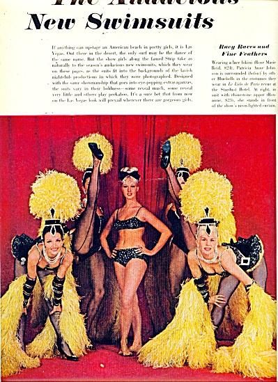 1965 LAS VEGAS SHOWGIRLS MODEL SWIMSUITS 10PG (Image1)