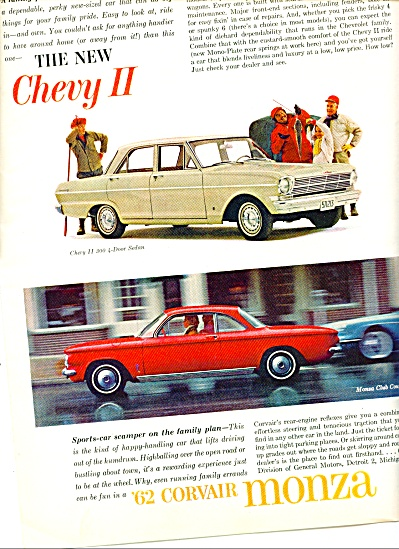 1962 -  Corvair Monza and  Chevy II ad (Image1)