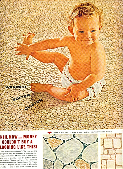 1964 - Armstrong vinyl floors ad (Image1)