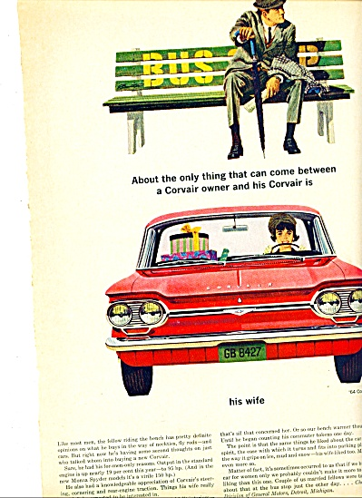 1964 -  Corvair Monza ad (Image1)