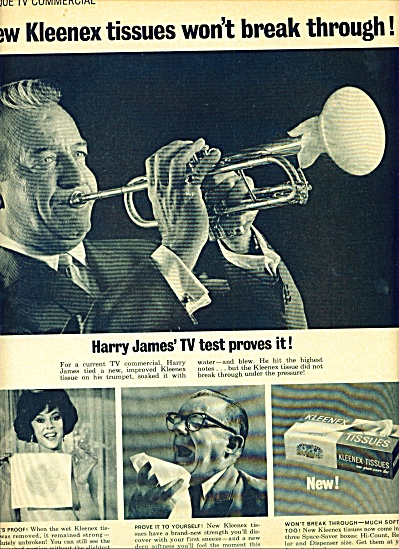 1964 - Kleenex tissues - HARRY JAMES (Image1)