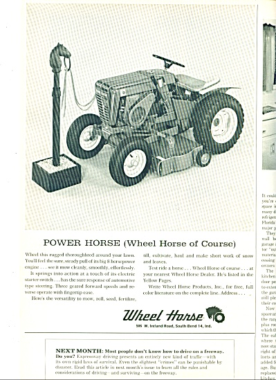 1964 - Wheel Horse Lawn Tractor Ad