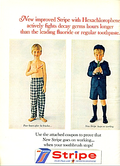 1964 -  Stripe tooth paste ad (Image1)
