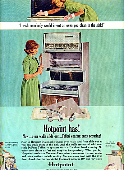 1963 - Hotpoint Ovens Ad-dish Washer