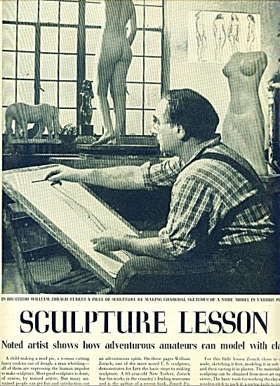 1948 - Sculpture lesson by William Zorach (Image1)