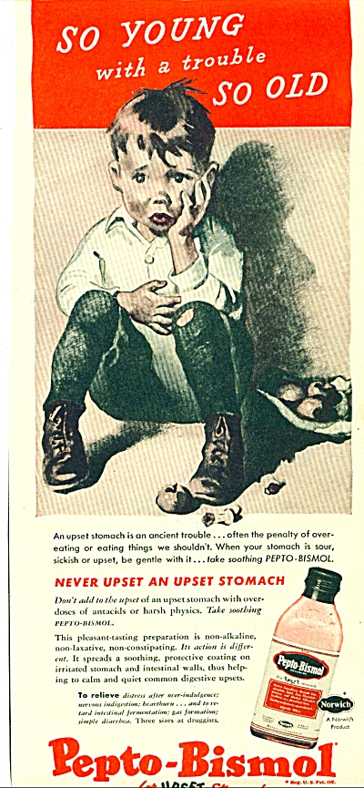 1947 -  Pepto Bismol for upset stomach ad (Image1)