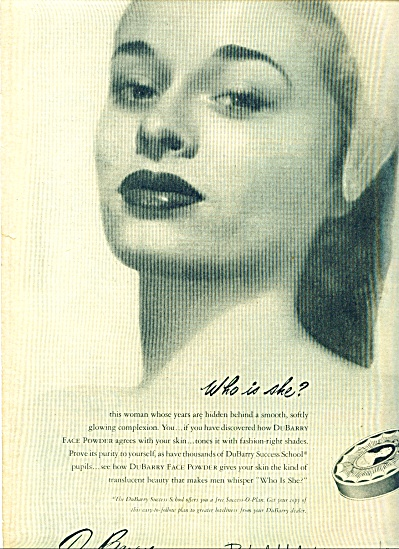 1947 - DuBarry beauty preparation ad (Image1)