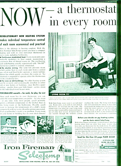 1954 - Iron fireman selecTemp ad (Image1)