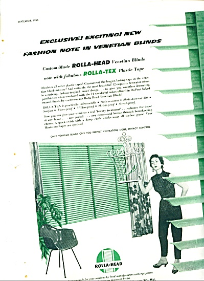 1954 -  Rolla Head venetian blinds ad (Image1)