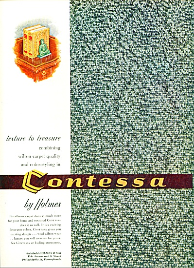 1954 - Contessa carpet by Holmes ad (Image1)