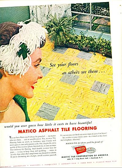 1954 - Matico asphalt tile flooring ad (Image1)