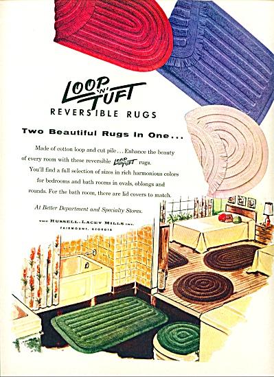 1954 -  Loop 'n' tuft reversible rugs ad (Image1)
