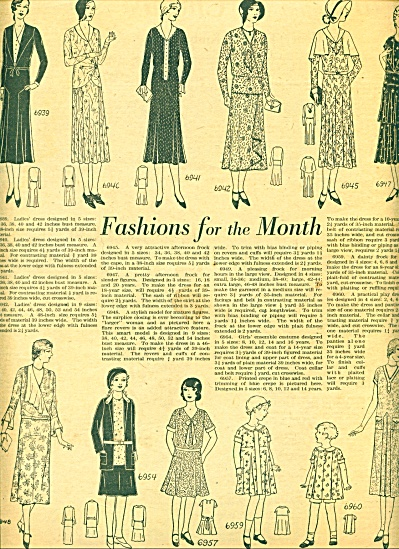 1930=-Fashions for the month ad (Image1)