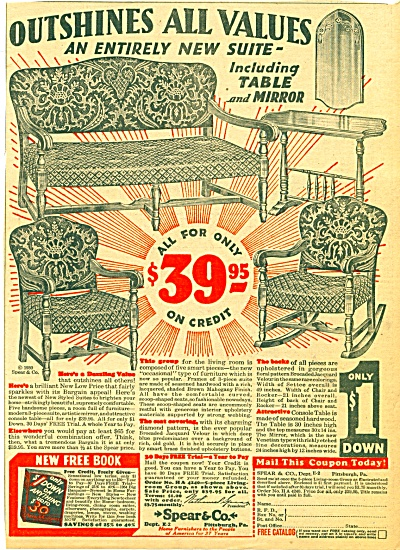 1930 - Spear & Co.home furnishers ad (Image1)