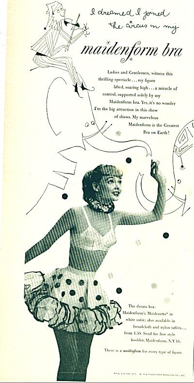 1952 - Maidenform bra ad I DREAMED....CIRCUS (Image1)