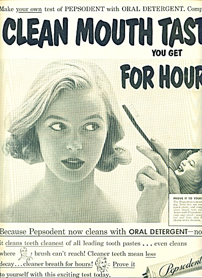 1952 - Pepsodent Tookth Paste Ad