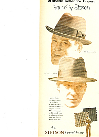 1952 -  Stetson hats for men ad (Image1)
