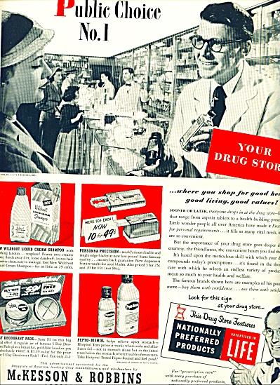 1951 -  McKesson & Robbins drug store ad (Image1)