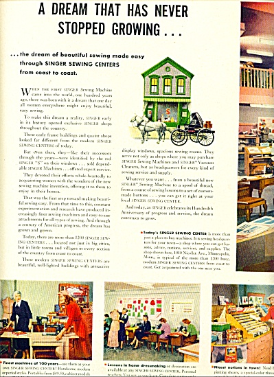 1951 - Singer sewing centers ad (Image1)