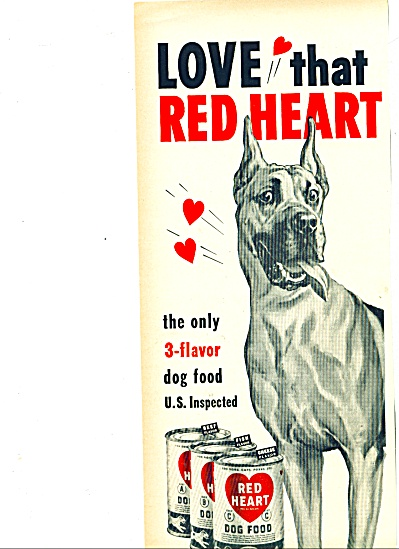 1951 -  Red Heart dog food ad (Image1)