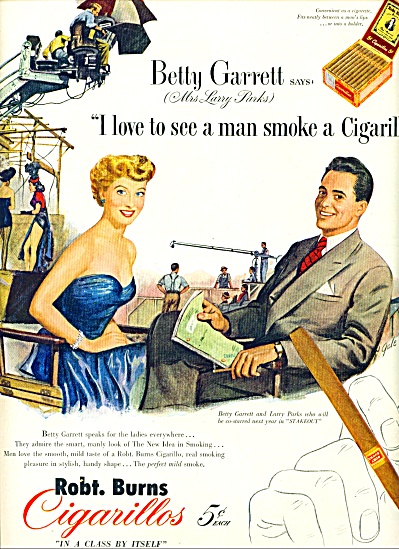 1951 - Robert Burns Cigarillos Ad