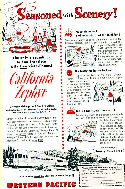 1954 - Western Pacific railroad ad (Image1)