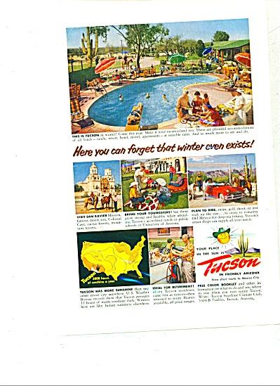 1954 - Tucson, in friendly Arizona ad (Image1)