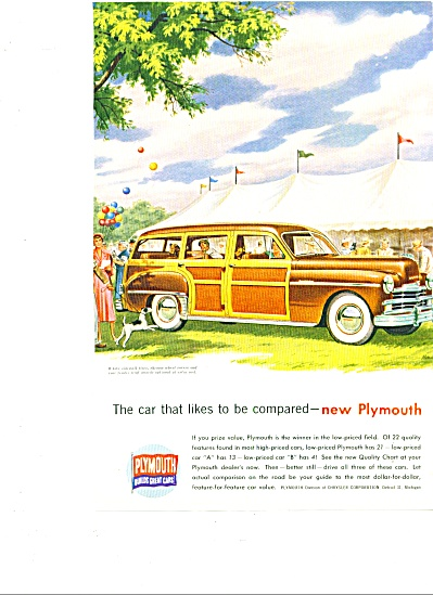 1949 - Plymouth Station Wagon Ad