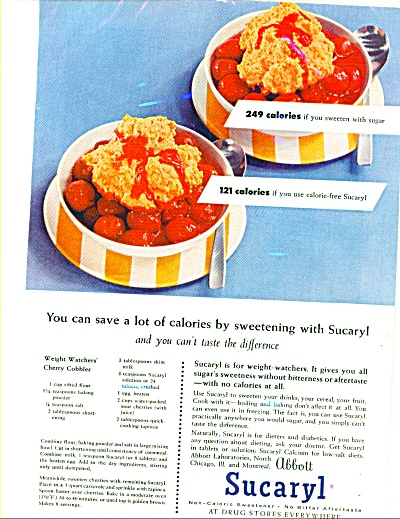 1956 -  Sucaryl non caloric sweetener ad (Image1)