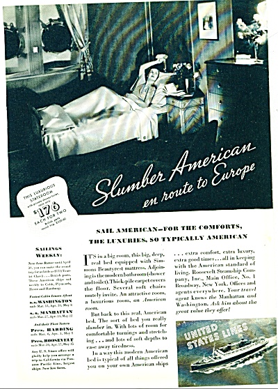 1935 - United States Lines ad (Image1)