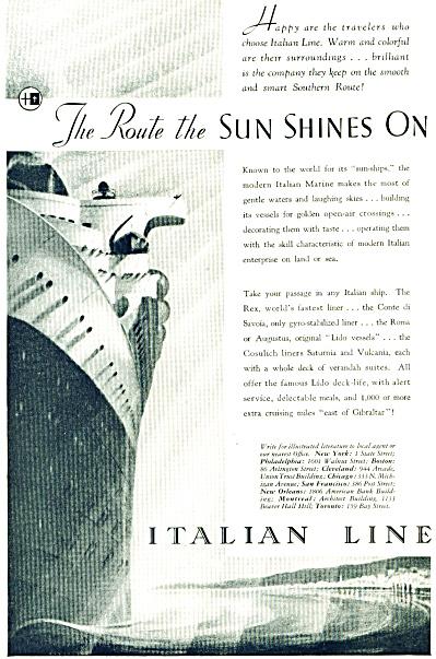 1935 - Italian Line ad (Image1)