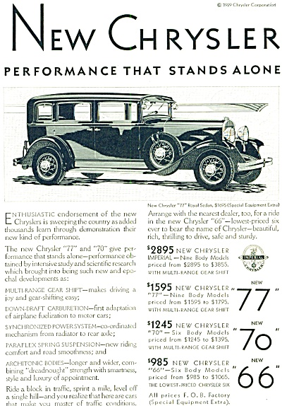 1929 - Chrysler automobile ad (Image1)