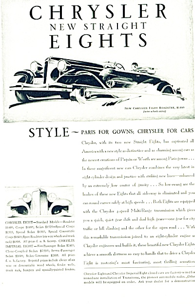 1930 -  Chrysler new straight eights ad (Image1)