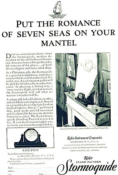 1929- Stormoguide -Taylor instrument co. ad (Image1)