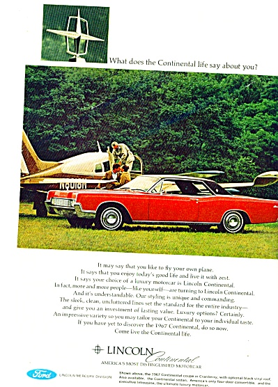 1967 - Lincoln continental ad (Image1)