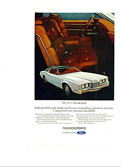 1972 - Thunderbird from Ford ad (Image1)