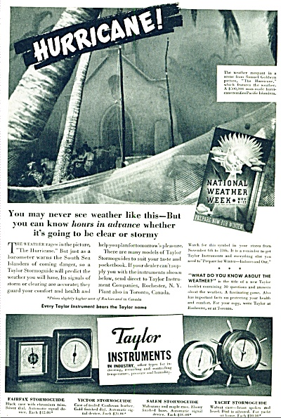 1937 - Taylor Instruments ad (Image1)