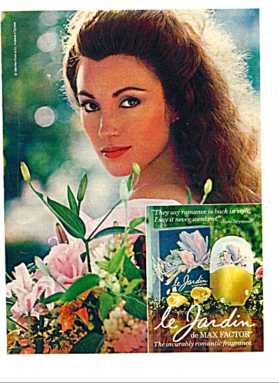 1985 -= le Jardin by Max Factor ad (Image1)