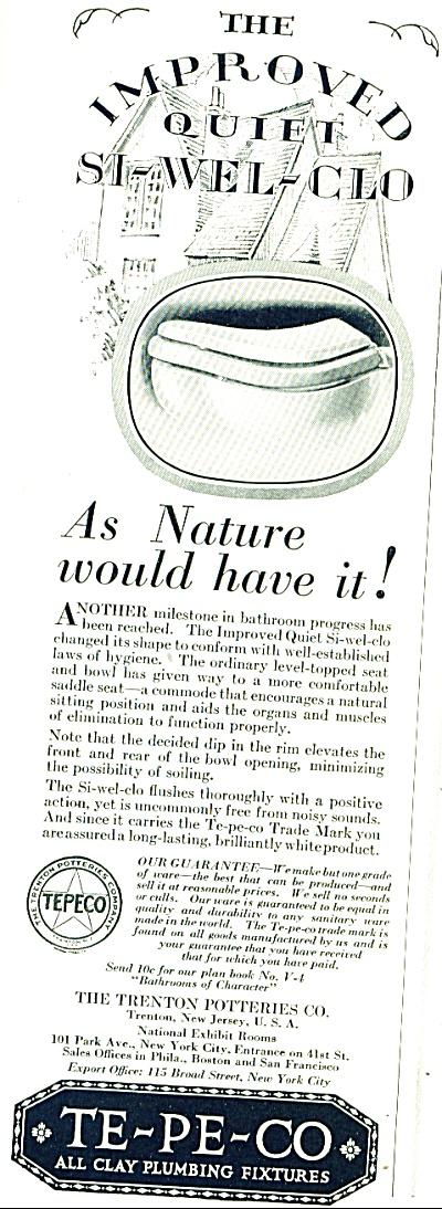1930 -  Te-Pe-Co plumbing fixtures ad (Image1)